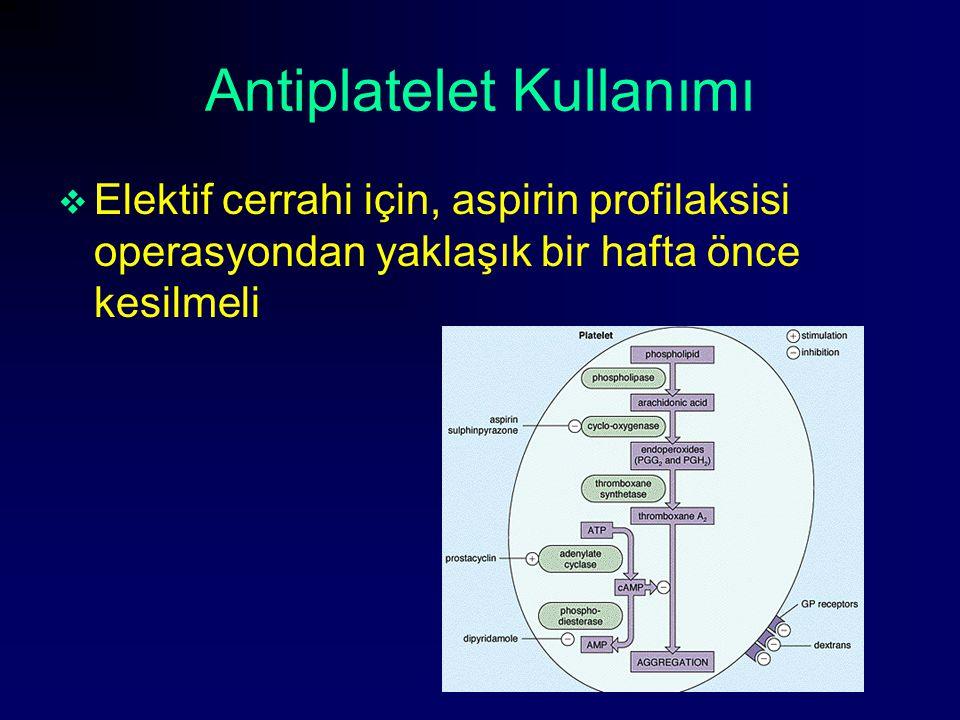 Antiplatelet Kullanımı