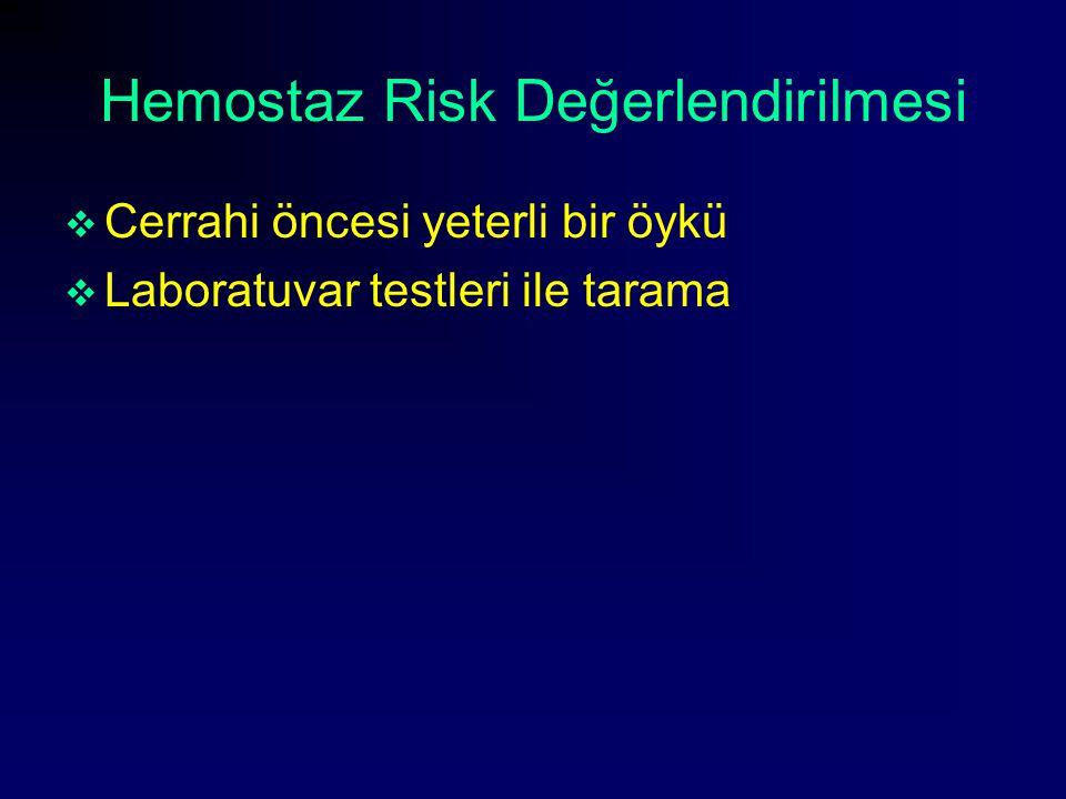 Hemostaz Risk Değerlendirilmesi