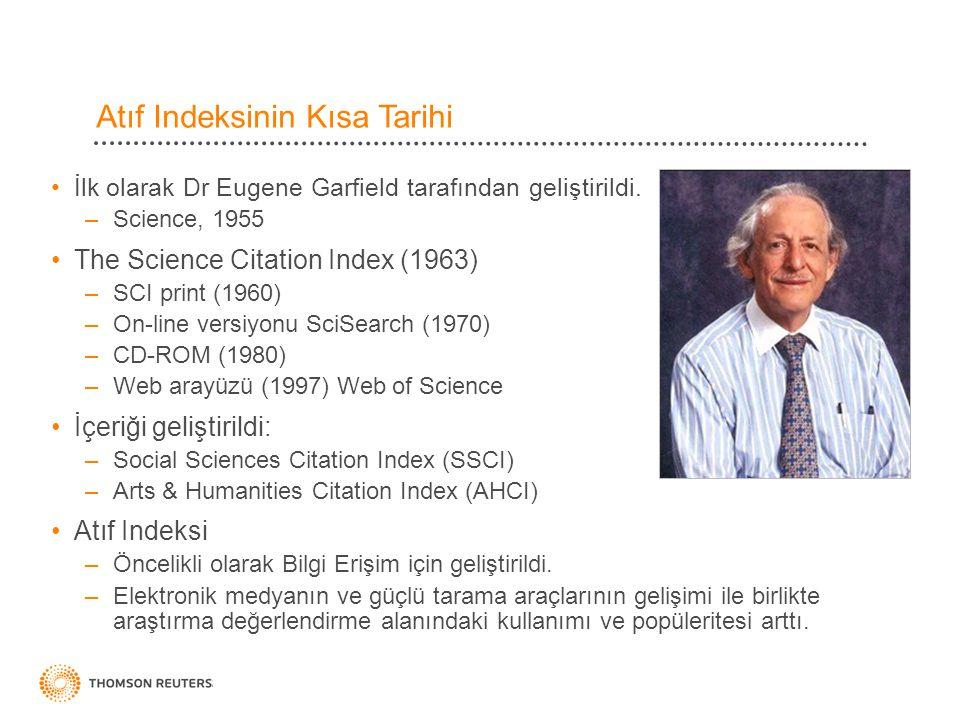 Atıf Indeksinin Kısa Tarihi