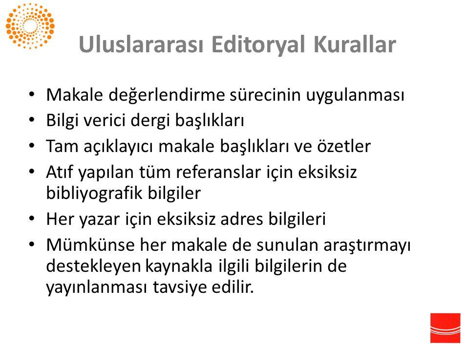Uluslararası Editoryal Kurallar