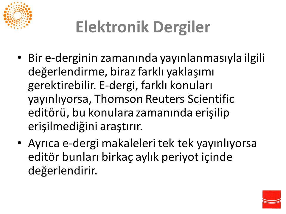 Elektronik Dergiler