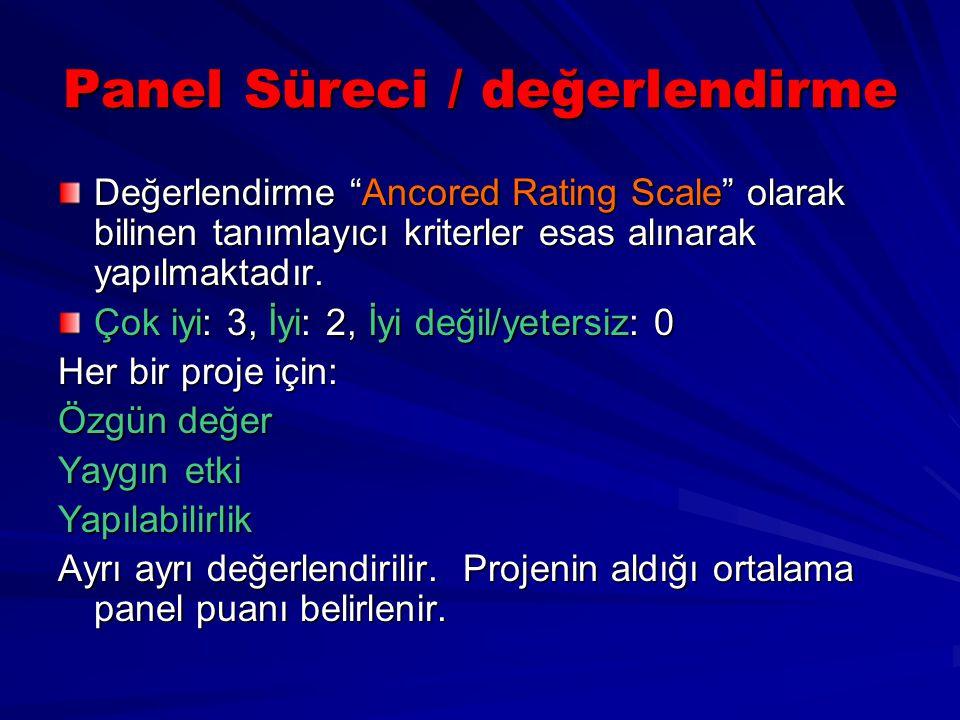 Panel Süreci / değerlendirme