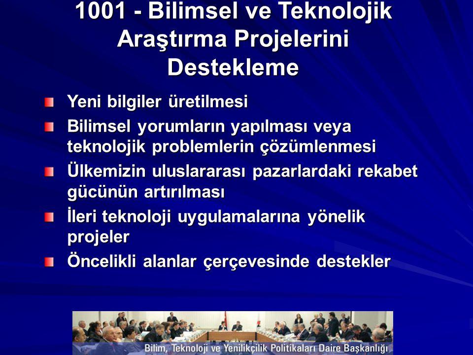 1001 - Bilimsel ve Teknolojik Araştırma Projelerini Destekleme
