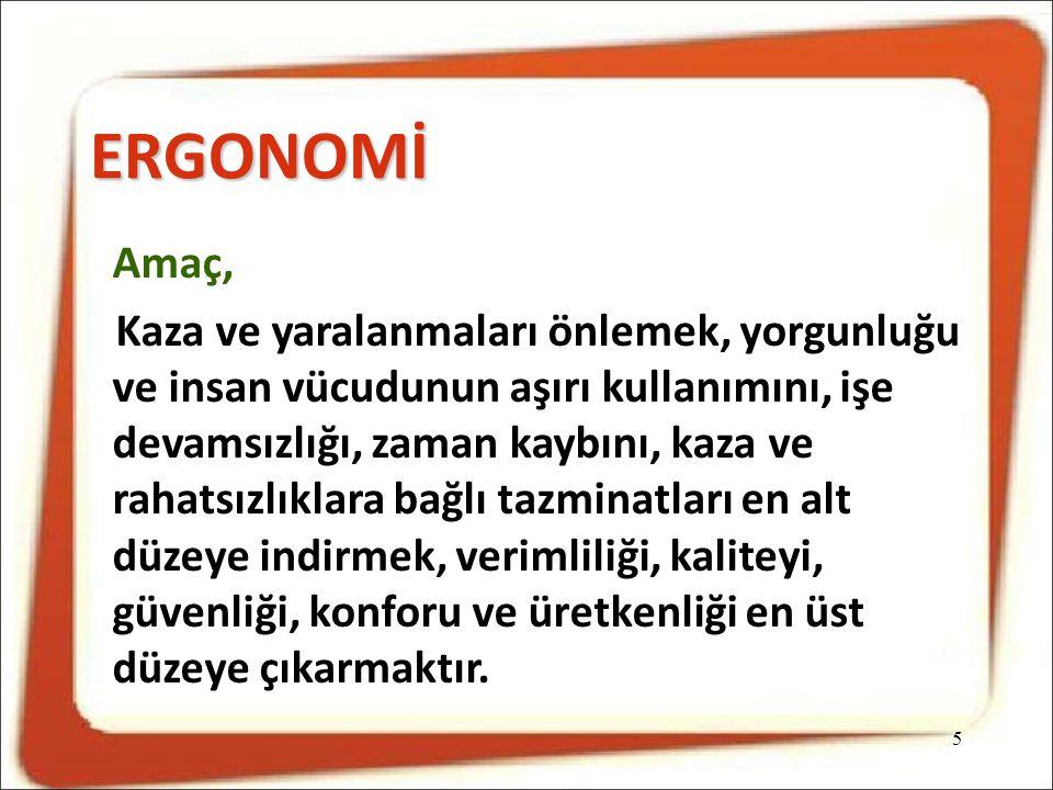 ERGONOMİ Amaç,