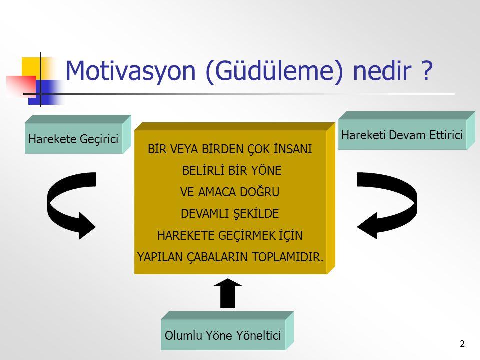 Motivasyon (Güdüleme) nedir