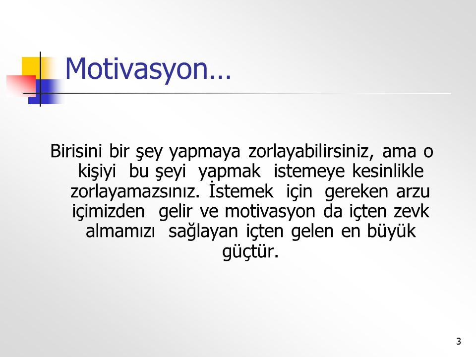 Motivasyon…