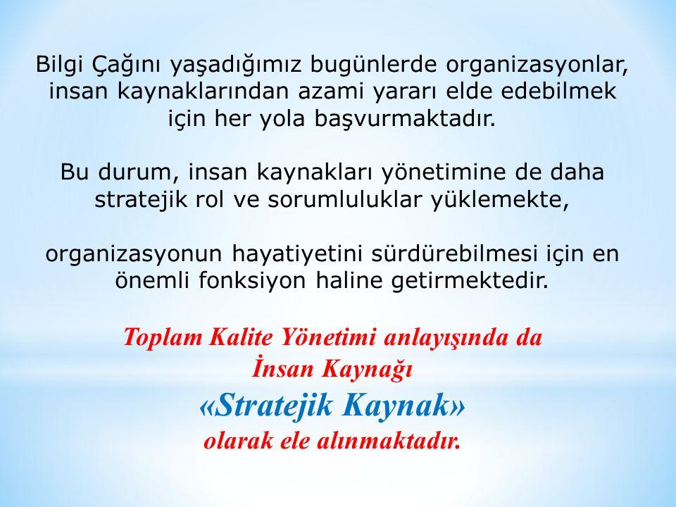 Toplam Kalite Yönetimi anlayışında da olarak ele alınmaktadır.