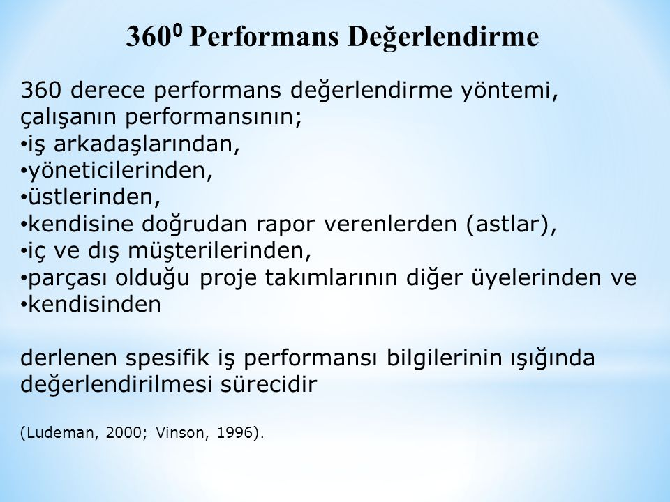 3600 Performans Değerlendirme