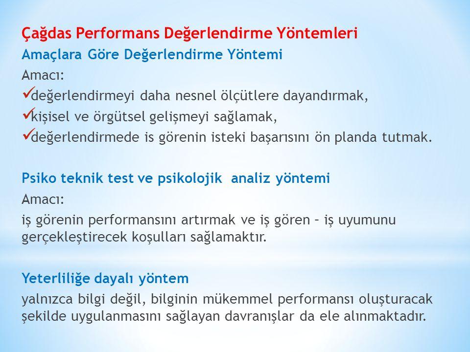 Çağdas Performans Değerlendirme Yöntemleri