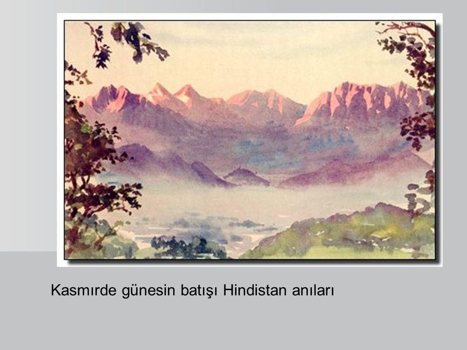 Kasmırde günesin batışı Hindistan anıları
