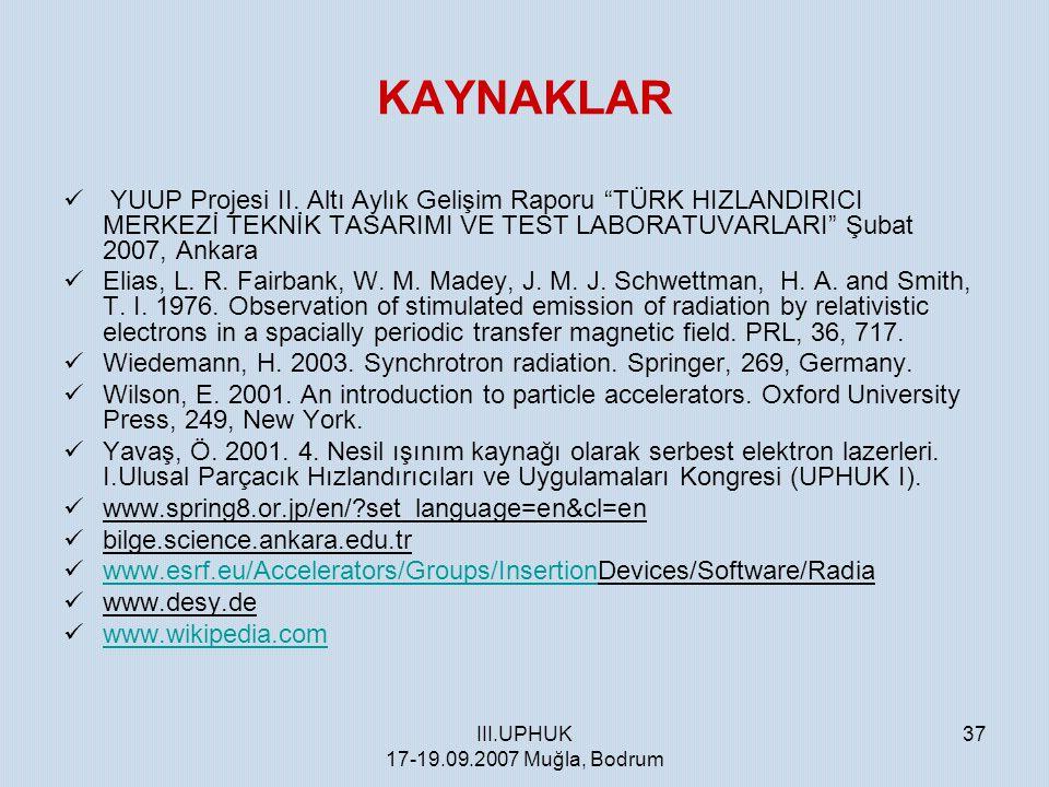 III.UPHUK 17-19.09.2007 Muğla, Bodrum