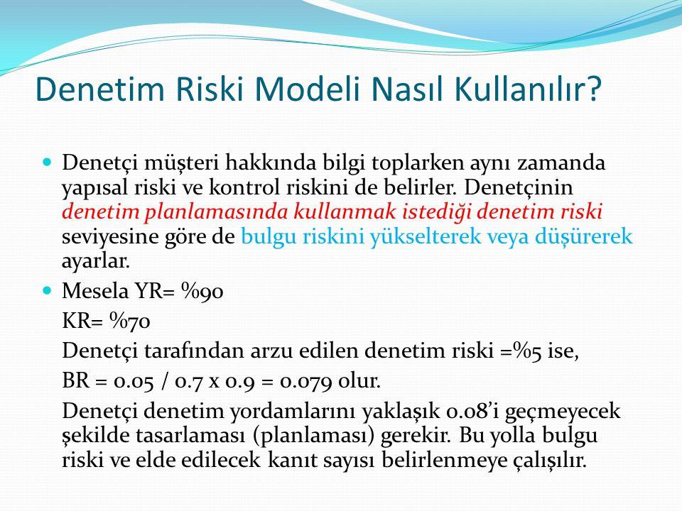 Denetim Riski Modeli Nasıl Kullanılır