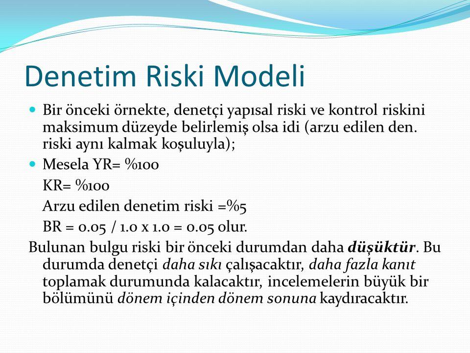 Denetim Riski Modeli