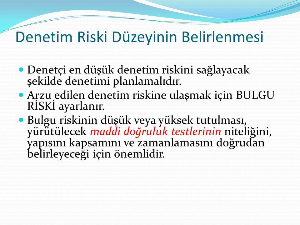 Denetim Riski Düzeyinin Belirlenmesi
