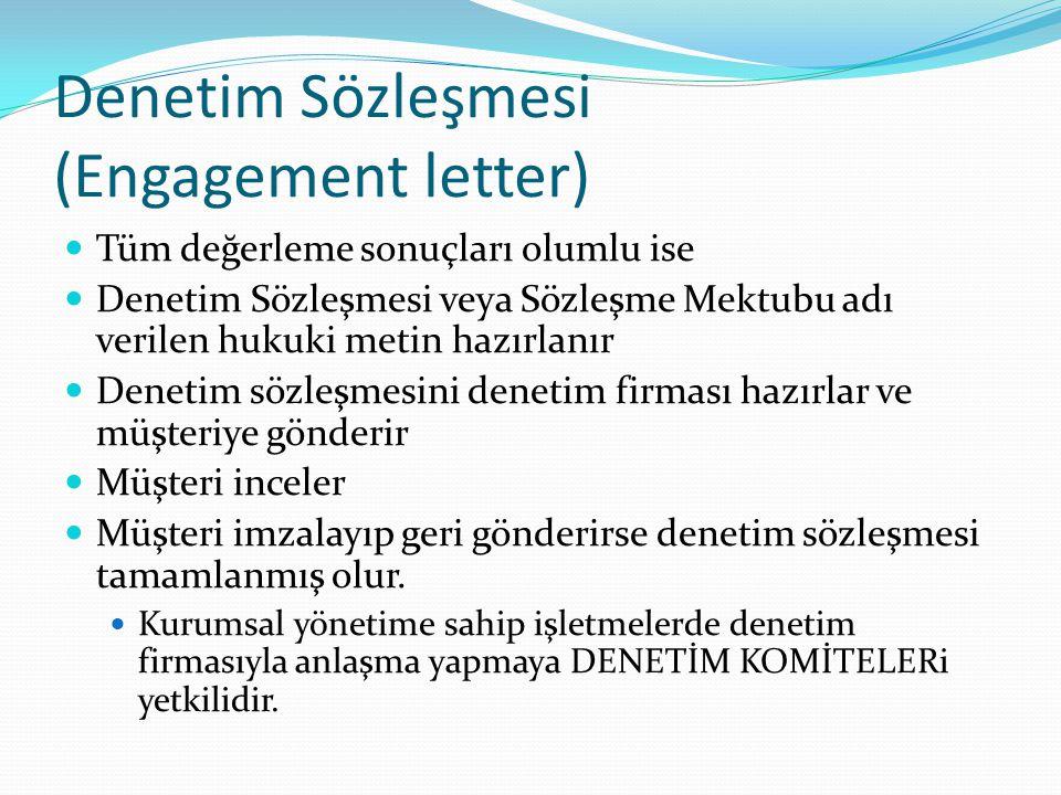 Denetim Sözleşmesi (Engagement letter)