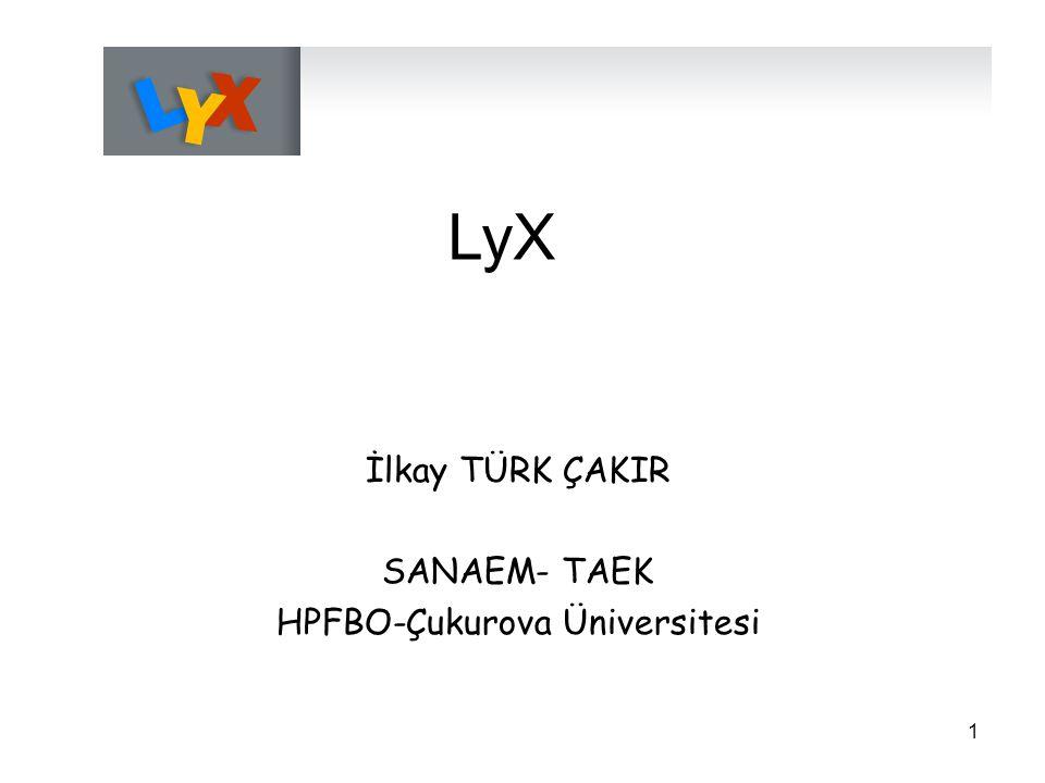 HPFBO-Çukurova Üniversitesi