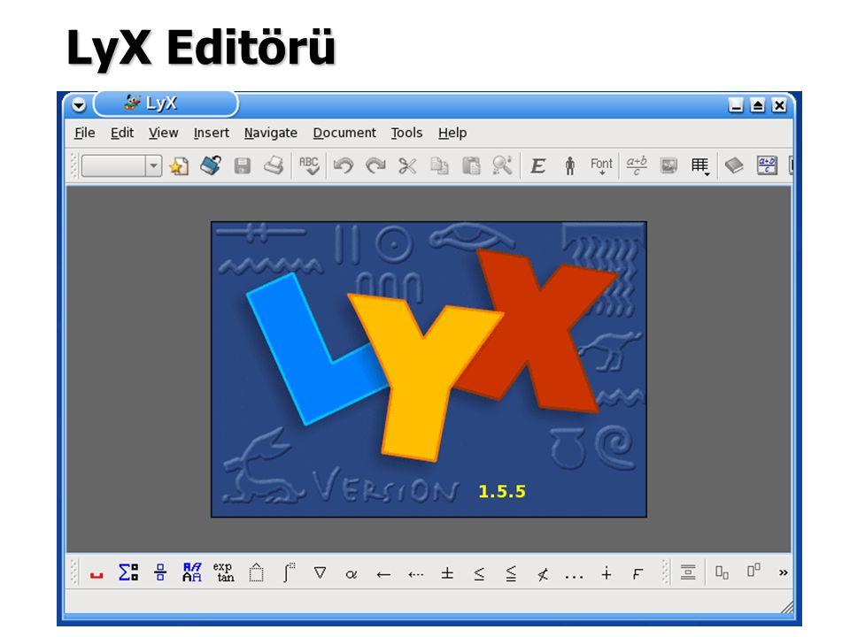 LyX Editörü