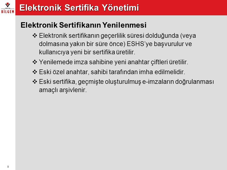 Elektronik Sertifika Yönetimi