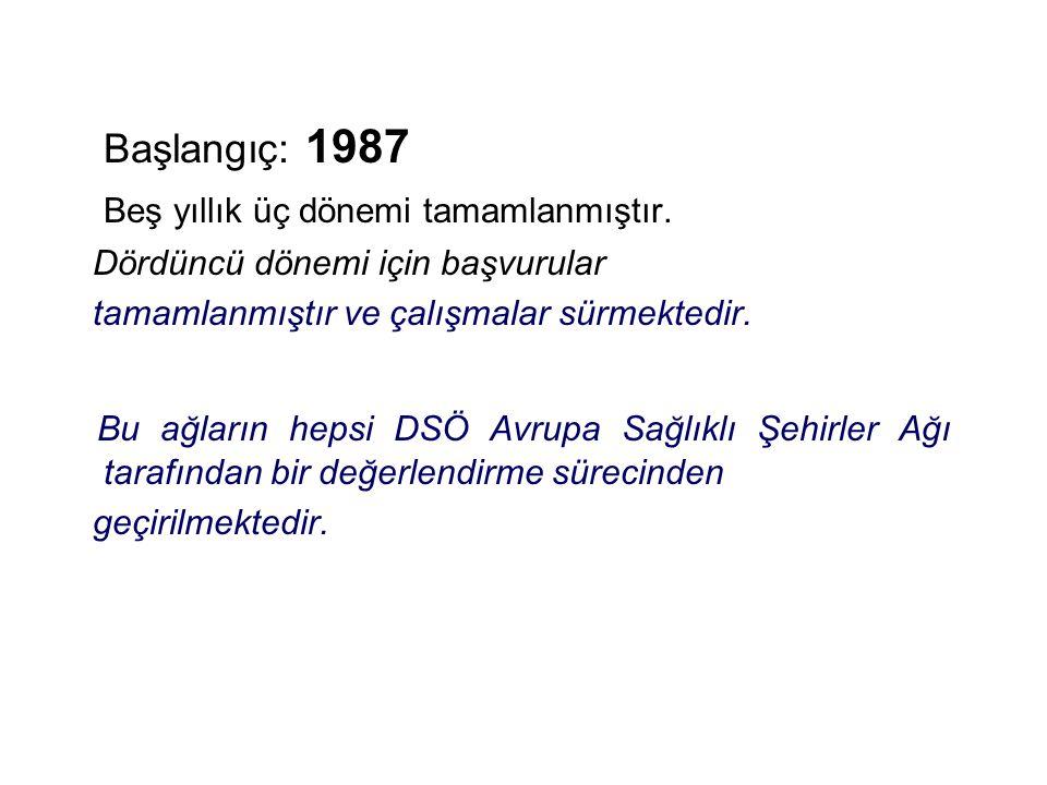 Genel Bilgi Başlangıç: 1987 Beş yıllık üç dönemi tamamlanmıştır.