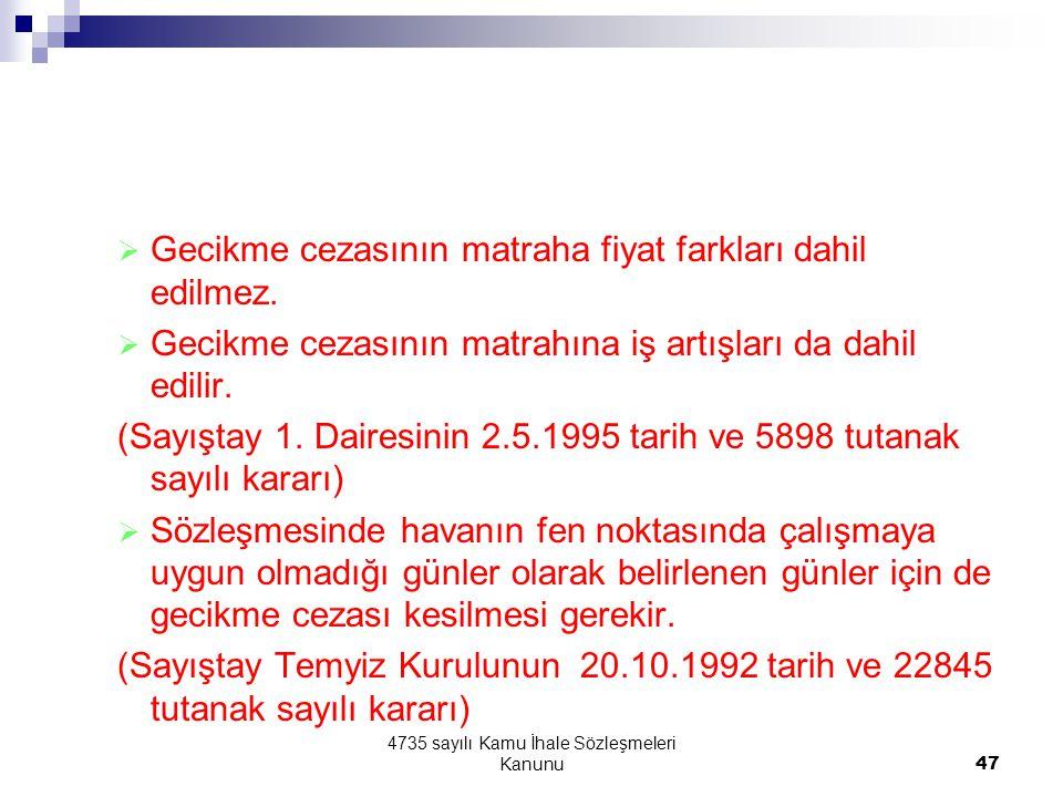 4735 sayılı Kamu İhale Sözleşmeleri Kanunu