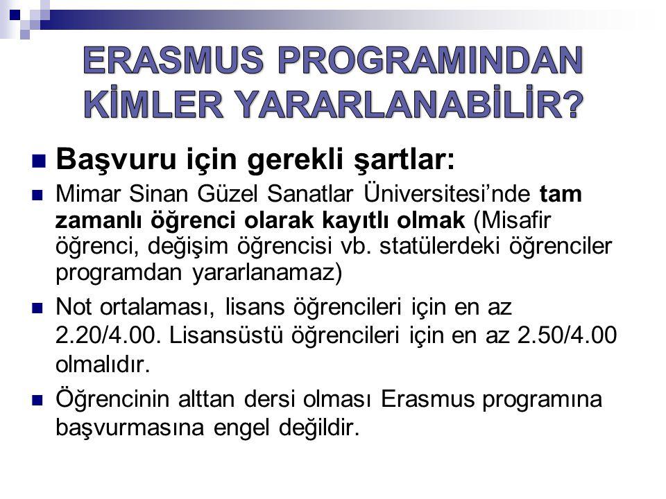 ERASMUS PROGRAMINDAN KİMLER YARARLANABİLİR