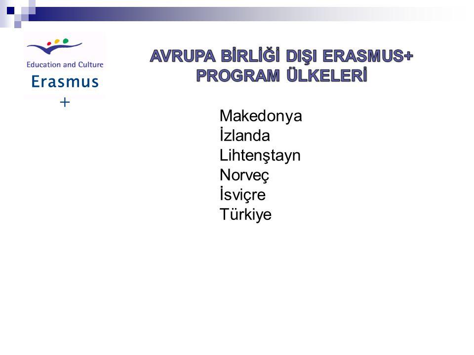 AVRUPA BİRLİĞİ DIŞI ERASMUS+ PROGRAM ÜLKELERİ