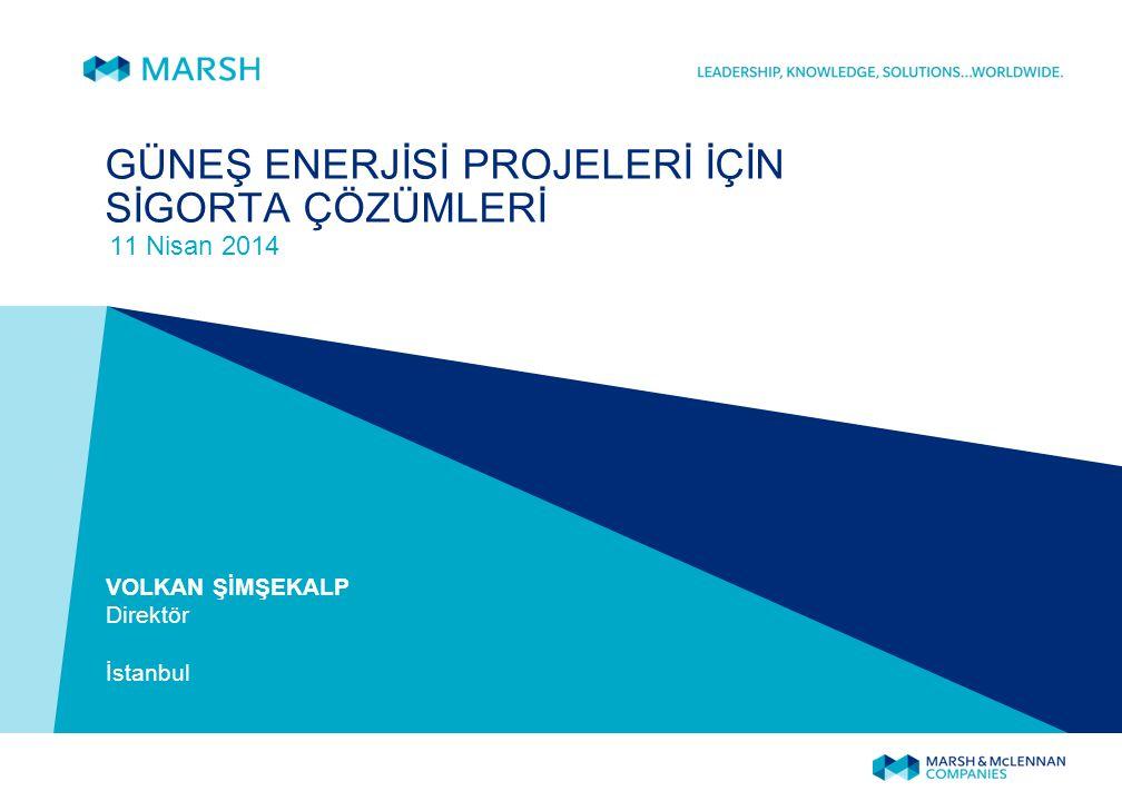 Ajanda 1. Kısaca Marsh 2. Enerji Projelerinin Dinamikleri