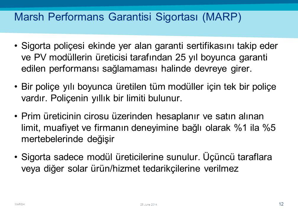 Marsh Performans Garantisi Sigortası (MARP)
