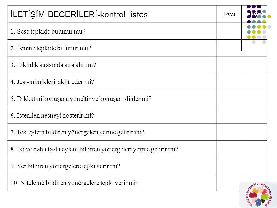 İLETİŞİM BECERİLERİ-kontrol listesi