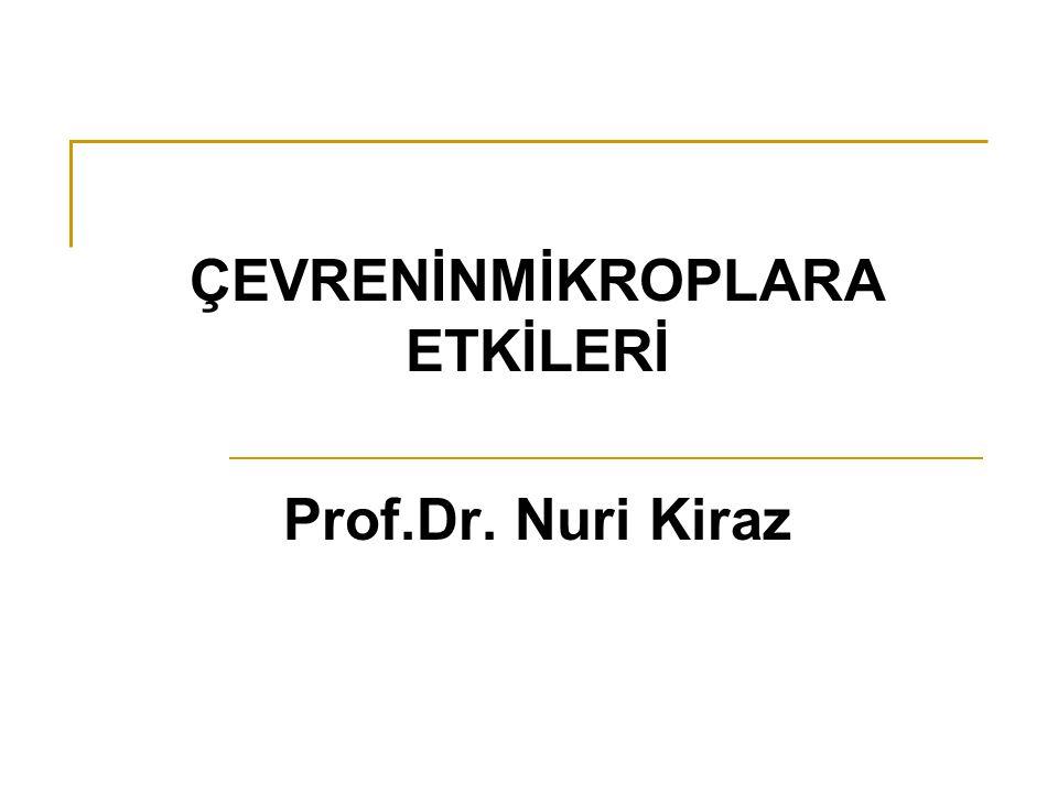 ÇEVRENİNMİKROPLARA ETKİLERİ Prof.Dr. Nuri Kiraz