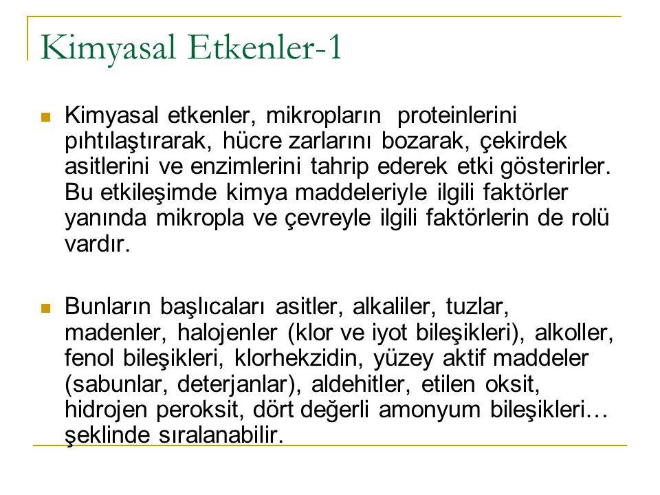 Kimyasal Etkenler-1