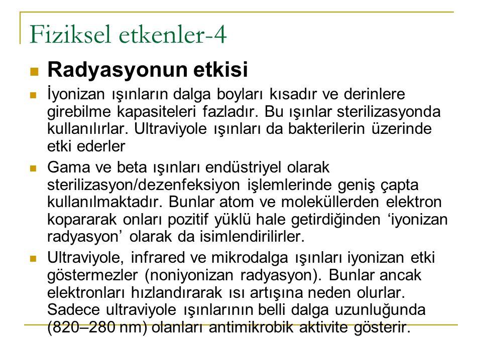 Fiziksel etkenler-4 Radyasyonun etkisi
