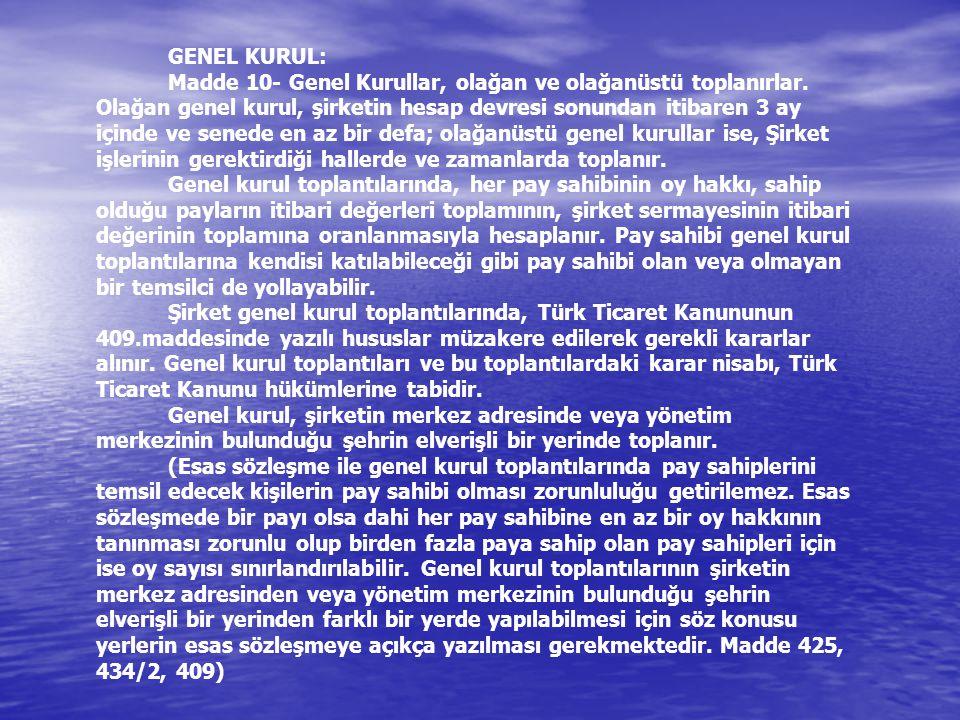 GENEL KURUL: