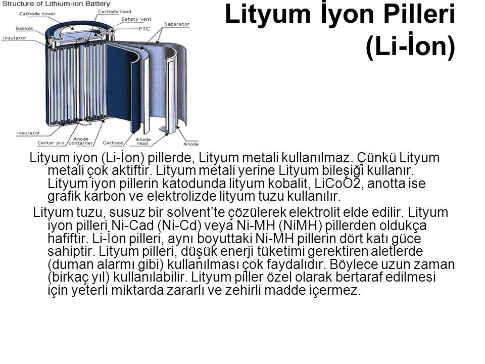Lityum İyon Pilleri (Li-İon)