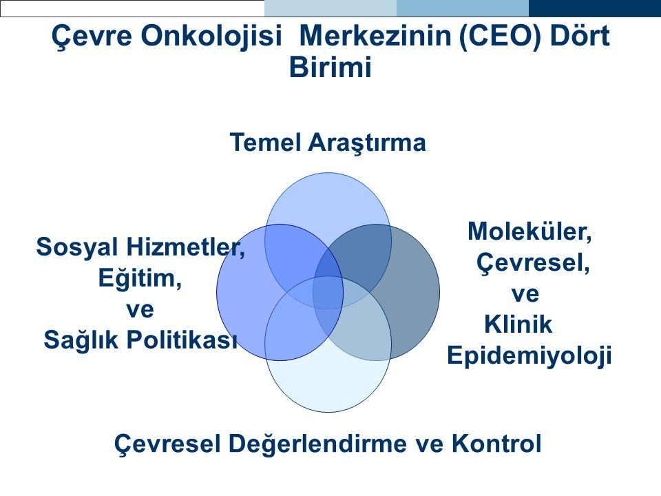Çevre Onkolojisi Merkezinin (CEO) Dört Birimi