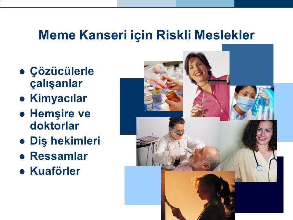 Meme Kanseri için Riskli Meslekler