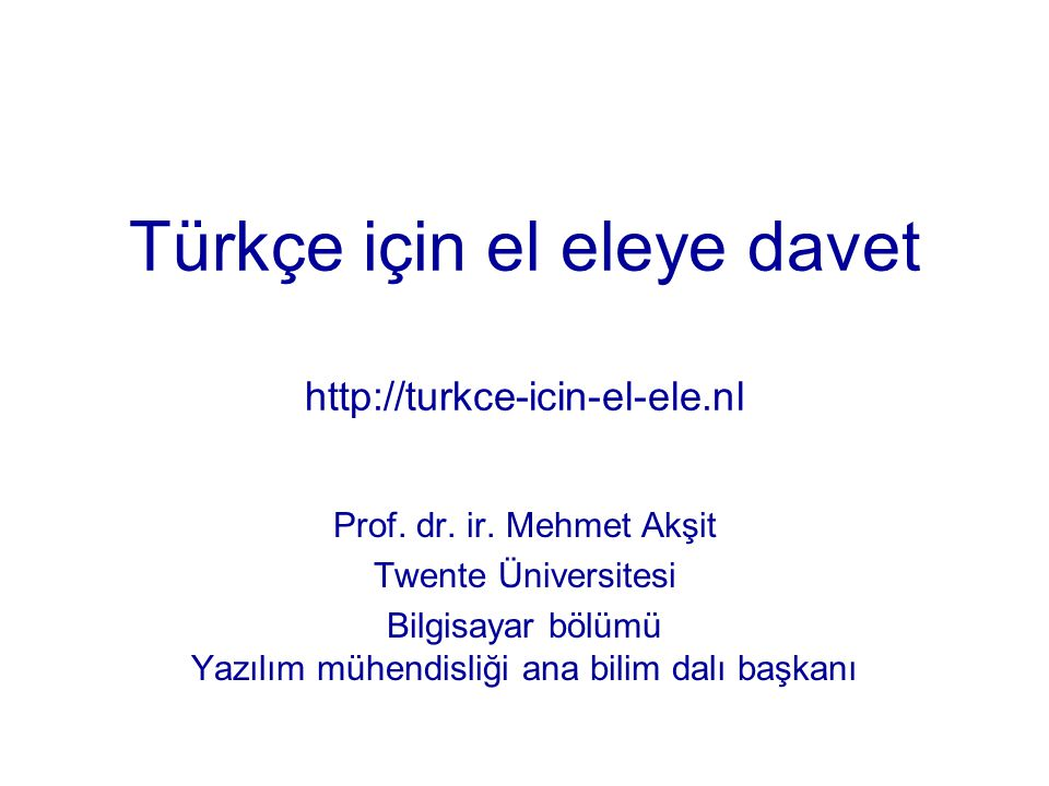 Türkçe için el eleye davet http://turkce-icin-el-ele.nl