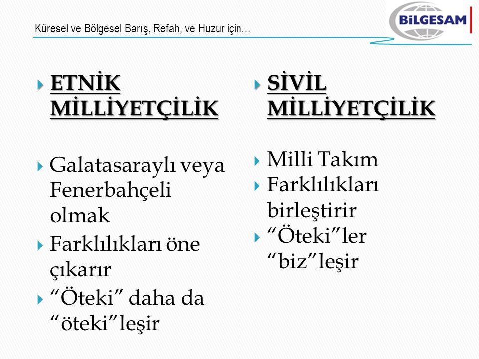 Galatasaraylı veya Fenerbahçeli olmak