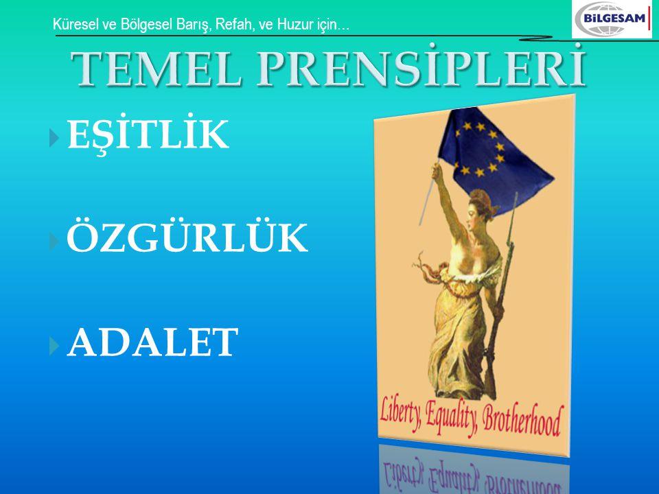 TEMEL PRENSİPLERİ EŞİTLİK ÖZGÜRLÜK ADALET