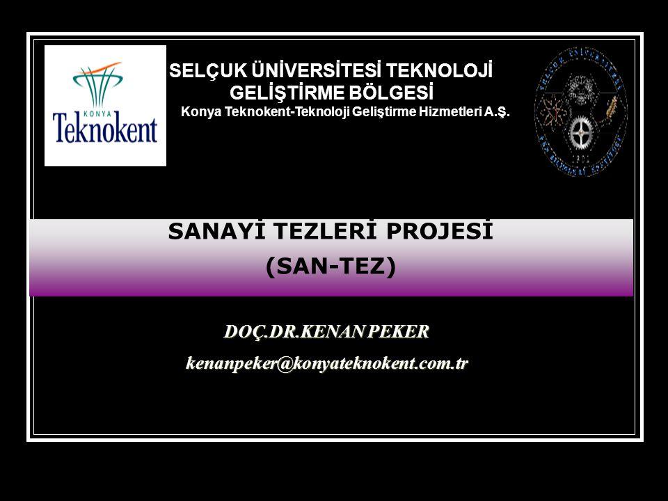 DOÇ.DR.KENAN PEKER kenanpeker@konyateknokent.com.tr