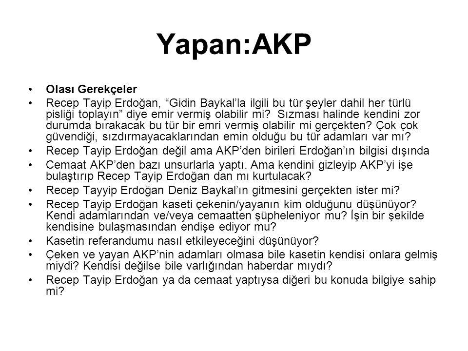 Yapan:AKP Olası Gerekçeler