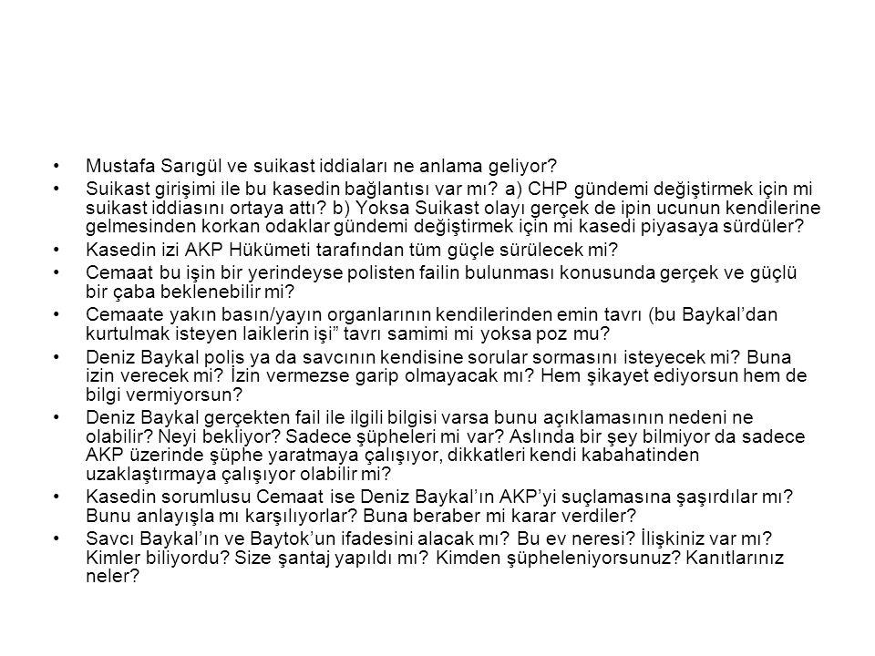 Mustafa Sarıgül ve suikast iddiaları ne anlama geliyor