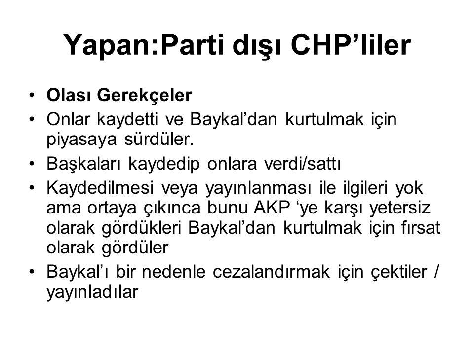 Yapan:Parti dışı CHP'liler