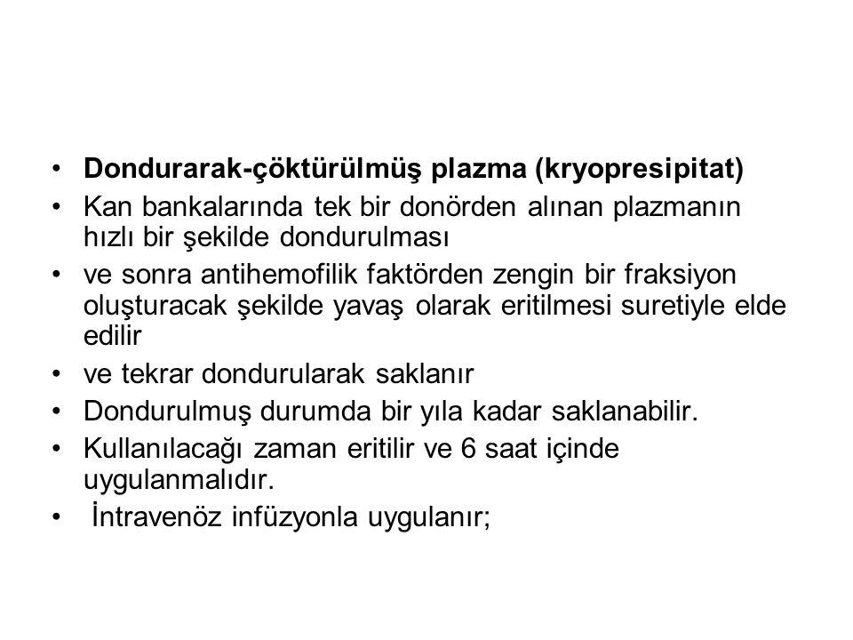 Dondurarak-çöktürülmüş plazma (kryopresipitat)