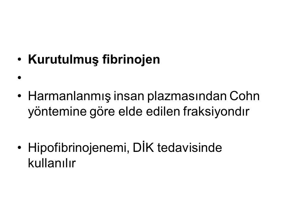 Kurutulmuş fibrinojen