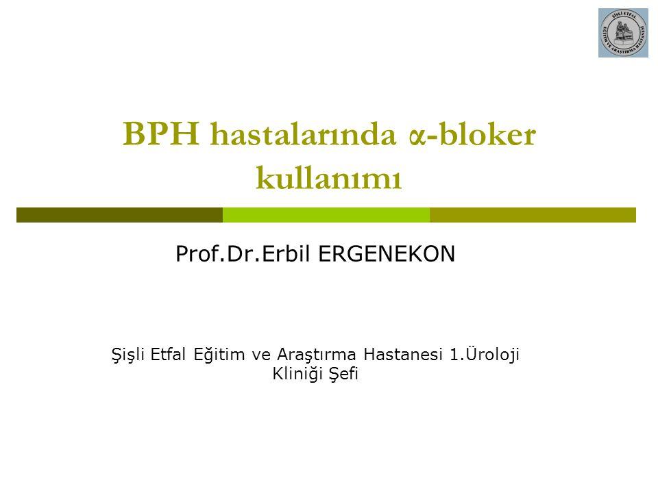 BPH hastalarında α-bloker kullanımı