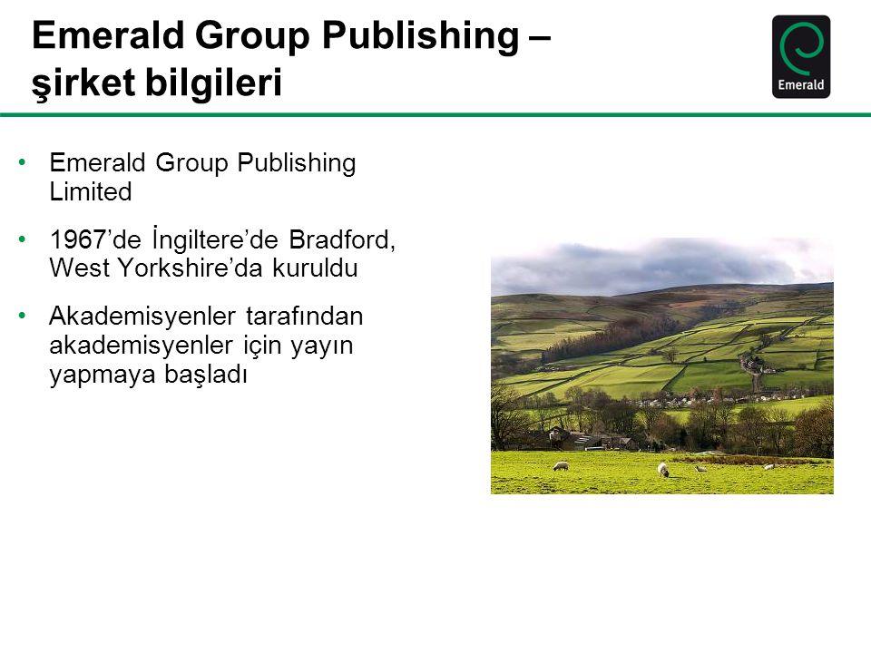 Emerald Group Publishing – şirket bilgileri