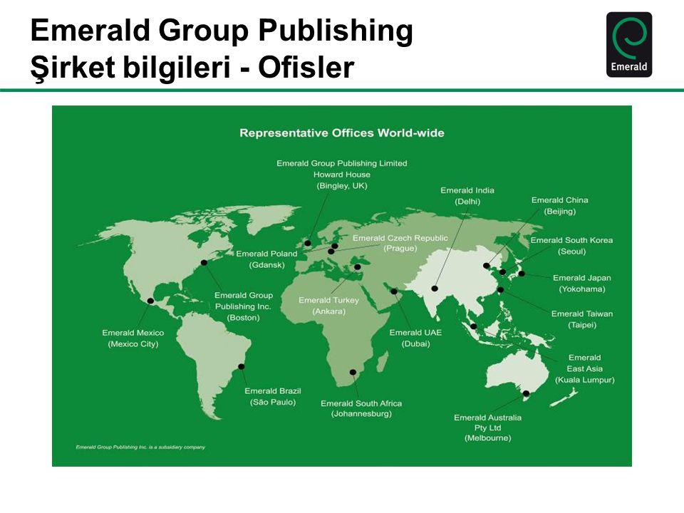 Emerald Group Publishing Şirket bilgileri - Ofisler