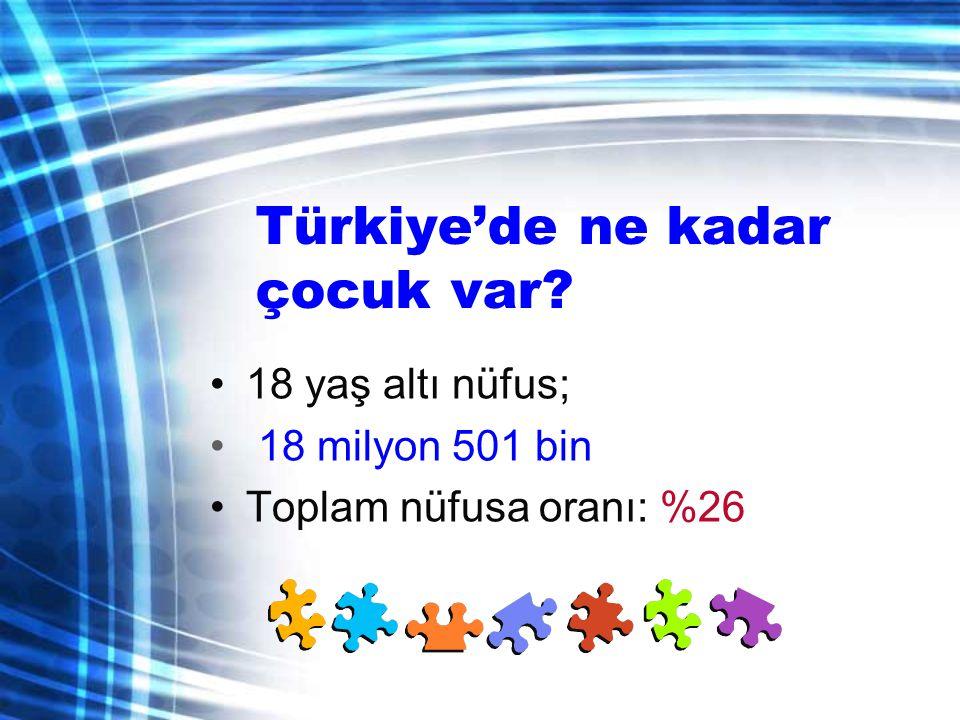 Türkiye'de ne kadar çocuk var