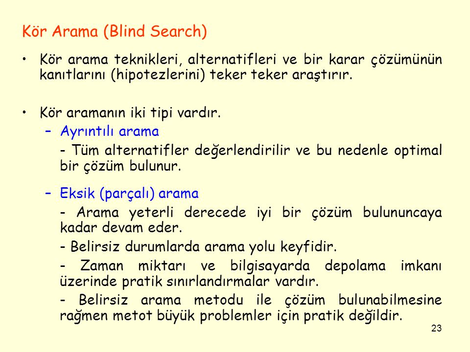 Kör Arama (Blind Search)